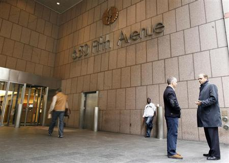The main entrance of 650 Fifth Avenue in the midtown Manhattan section of New York