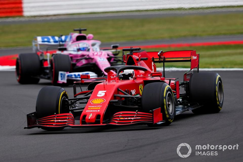"Sebastian Vettel, Ferrari SF1000, Nico Hulkenberg, Racing Point RP20<span class=""copyright"">Charles Coates / Motorsport Images</span>"