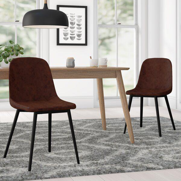 """<p><strong>AllModern</strong></p><p>wayfair.com</p><p><a href=""""https://go.redirectingat.com?id=74968X1596630&url=https%3A%2F%2Fwww.wayfair.com%2Ffurniture%2Fpdp%2Fallmodern-larkin-upholstered-side-chair-w003529633.html&sref=https%3A%2F%2Fwww.delish.com%2Fkitchen-tools%2Fcookware-reviews%2Fg36277927%2Fway-day-kitchen-deals-2021%2F"""" rel=""""nofollow noopener"""" target=""""_blank"""" data-ylk=""""slk:Shop Now"""" class=""""link rapid-noclick-resp"""">Shop Now</a></p><p><strong><del>$300</del> $160 (47% off)</strong></p><p>These faux-leather chairs will serve up a suave, modern feel to your kitchen, dining room or studio apartment that doubles as both. </p>"""
