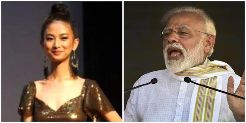 Beauty pageant contestant and PM Modi