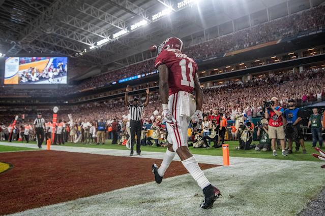 Alabama's Henry Ruggs III could end up as WR1 in the 2020 NFL draft. (Photo by Mark Brown/Getty Images)