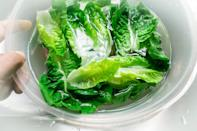 <p>Ever wonder why lettuce wilts? It's because it loses water. So while you don't want to store wet lettuce long term, to bring that lettuce back to life and make it last a bit longer, revive it by soaking the leaves in ice water for 30 minutes. This trick also works super well with cut veggies like carrot sticks.</p>