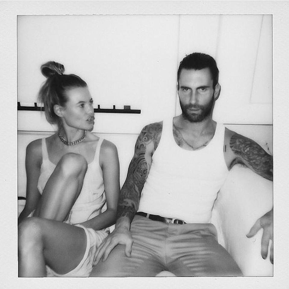 "<p>The model wished hubby Adam Levine a happy <a rel=""nofollow"" href=""https://www.instagram.com/p/BWvCwITl0Mo/"">third wedding anniversary</a> in a cute way: ""My ride or die, 3 years strong."" (Photo: Behati Prinsloo via Instagram) </p>"