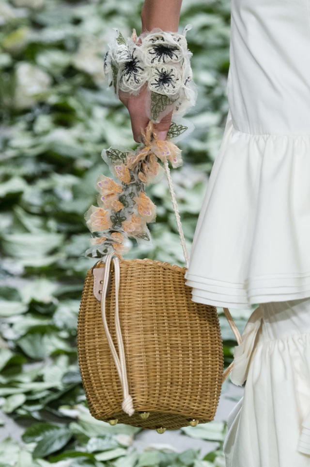 <p><i>Brown wicker basket bag from the SS18 Brock Collection. (Photo: ImaxTree) </i></p>