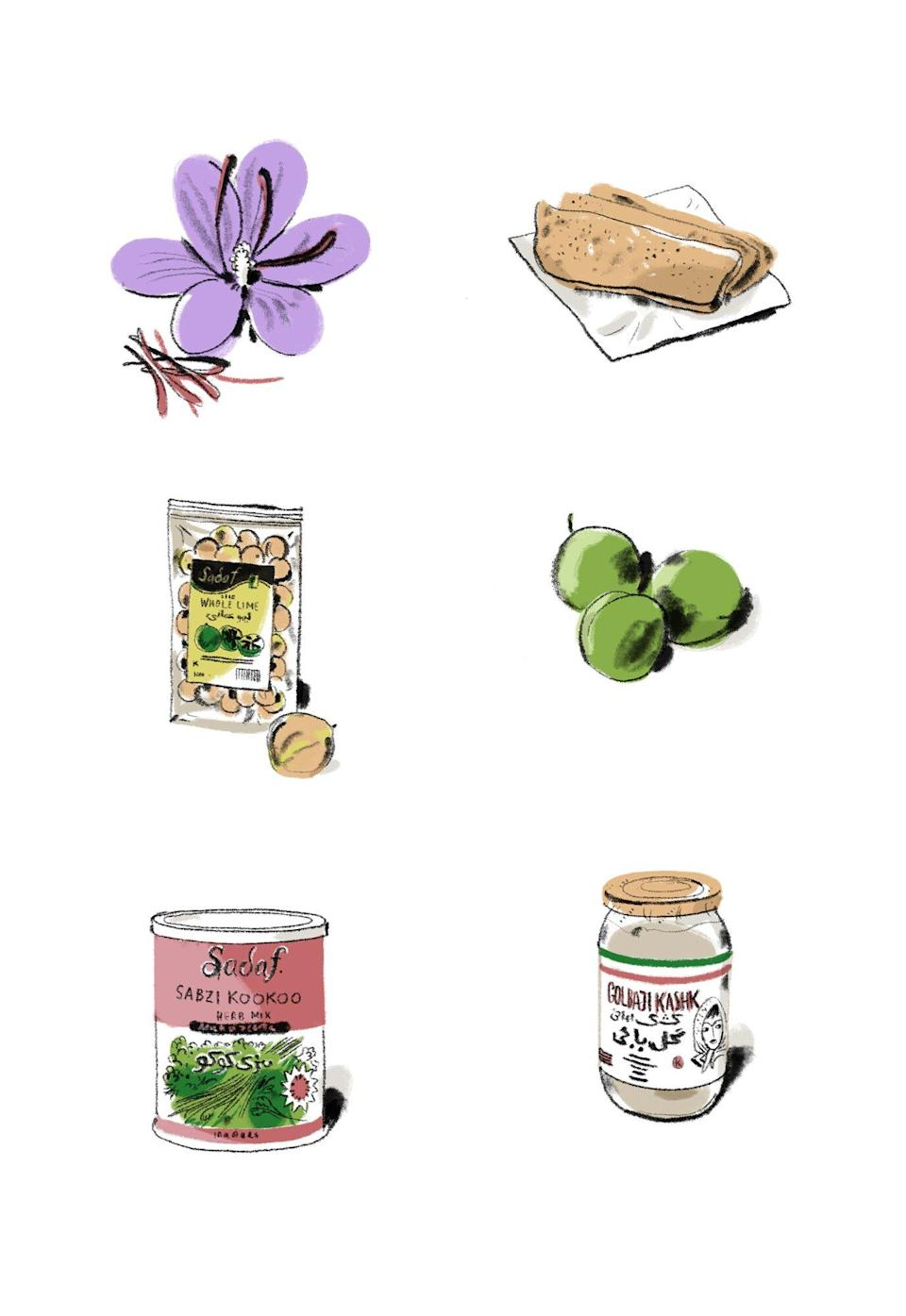 ingredient illustrations