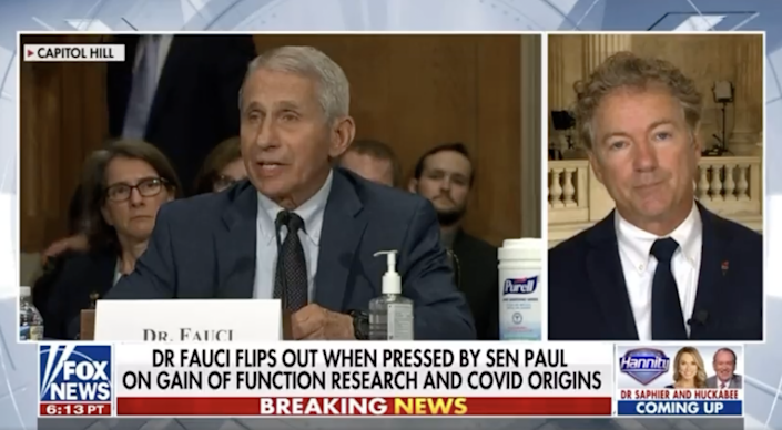 Sen. Rand Paul said that he will be asking the Department of Justice for a criminal refferal int Dr Anthony Fauci after  told him he was liar during his testimony in Congress (Fox News)