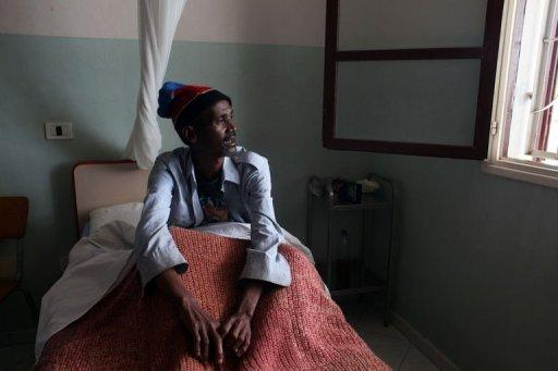 "Jean Louis Talata, a tuberculosis patient, rest at the hospital of the congregation ""The Little Servants of the Sacred Heart of Jesus"" in Tamatave. Last year, 26,700 people contracted TB, according to the health ministry, a jump of more than 16% compared with 2009, when a military coup precipitated an economic crisis as donors suspended aid to one of the world's poorest countries"