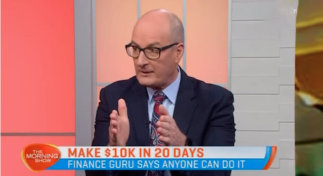 David Koch isn't getting much love online after his budgeting show hit screens on Wednesday night. Photo: Seven