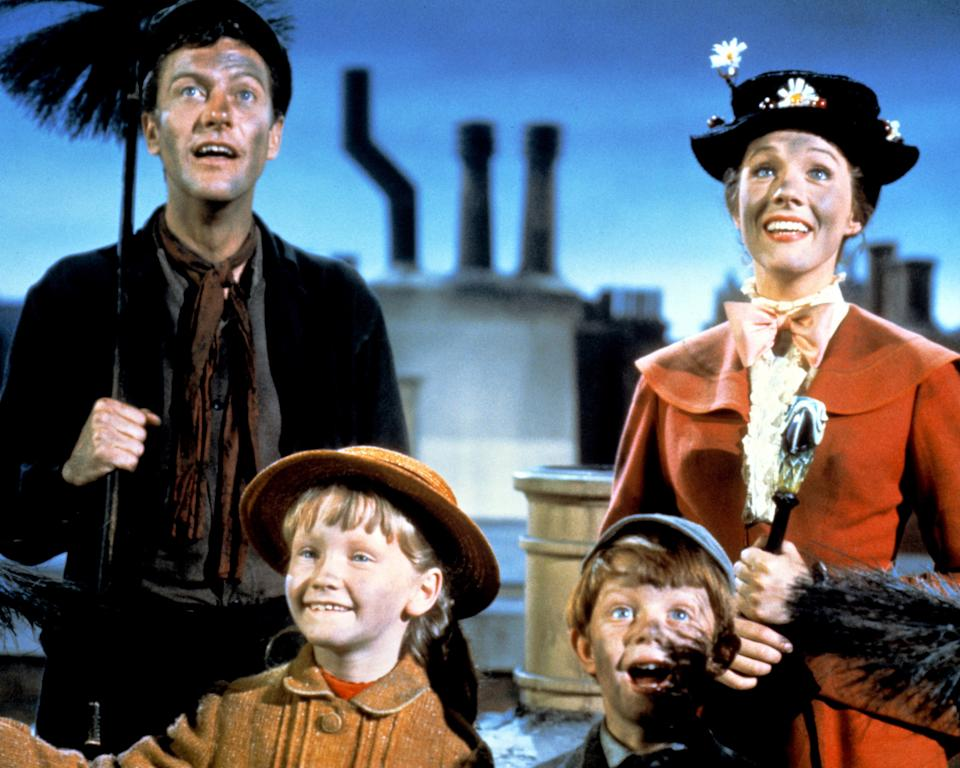 Dick Van Dyke remains best known for playing chimney sweep Bert in 'Mary Poppins'. (Silver Screen Collection/Hulton Archive/Getty Images)