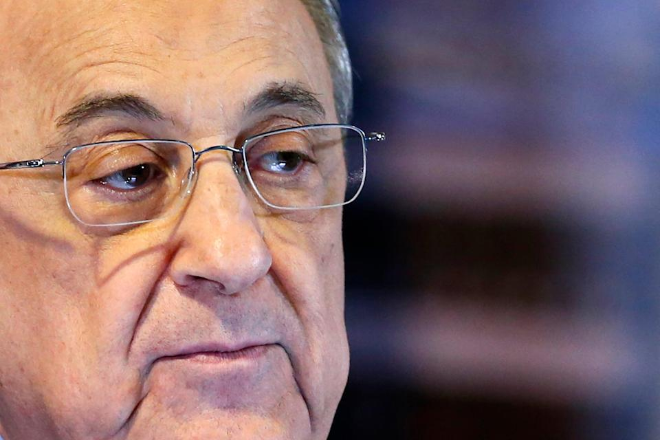 Florentino Perez remains steadfast in his belief football needs a Super League (AFP)
