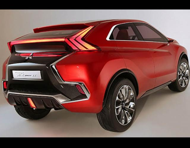 Rear View Of The All New Mitsubishi Suv