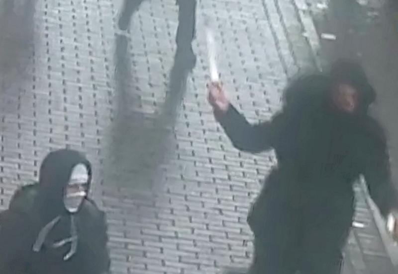 Shocking CCTV shows the moment a teenage schoolboy was brutally stabbed (Picture: SWNS)