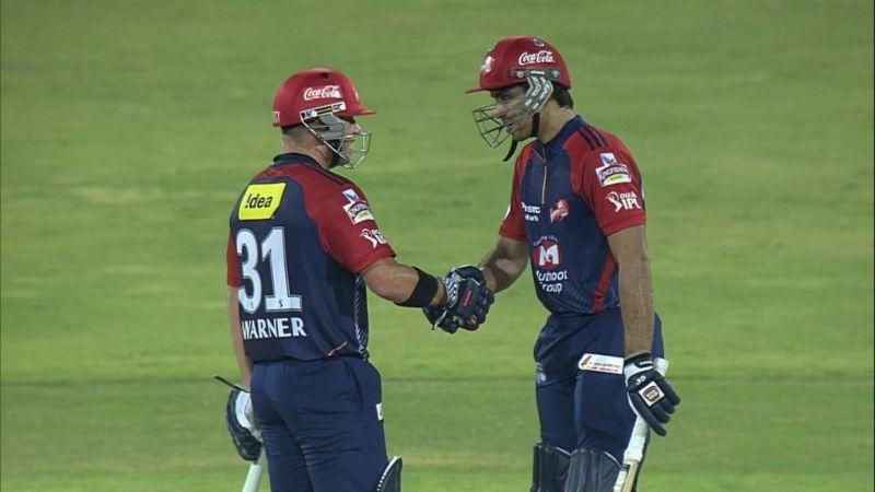 David Warner and Naman Ojha Enter caption