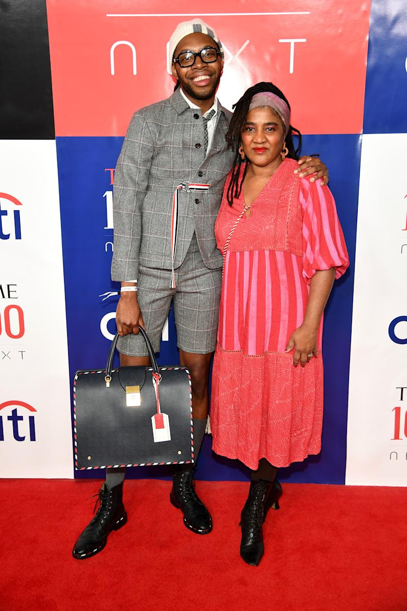 Jeremy O. Harris and Lynn Nottage attend Time 100 Next at Pier 17 on November 14, 2019 in New York City.