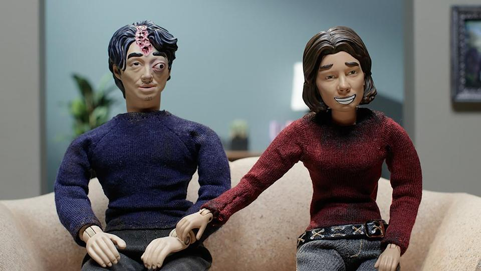 Maggie and Glenn in what a normal life together would be like in 'The Robot Chicken Walking Dead Special: Look Who's Walking' (Photo: Courtesy of Adult Swim)