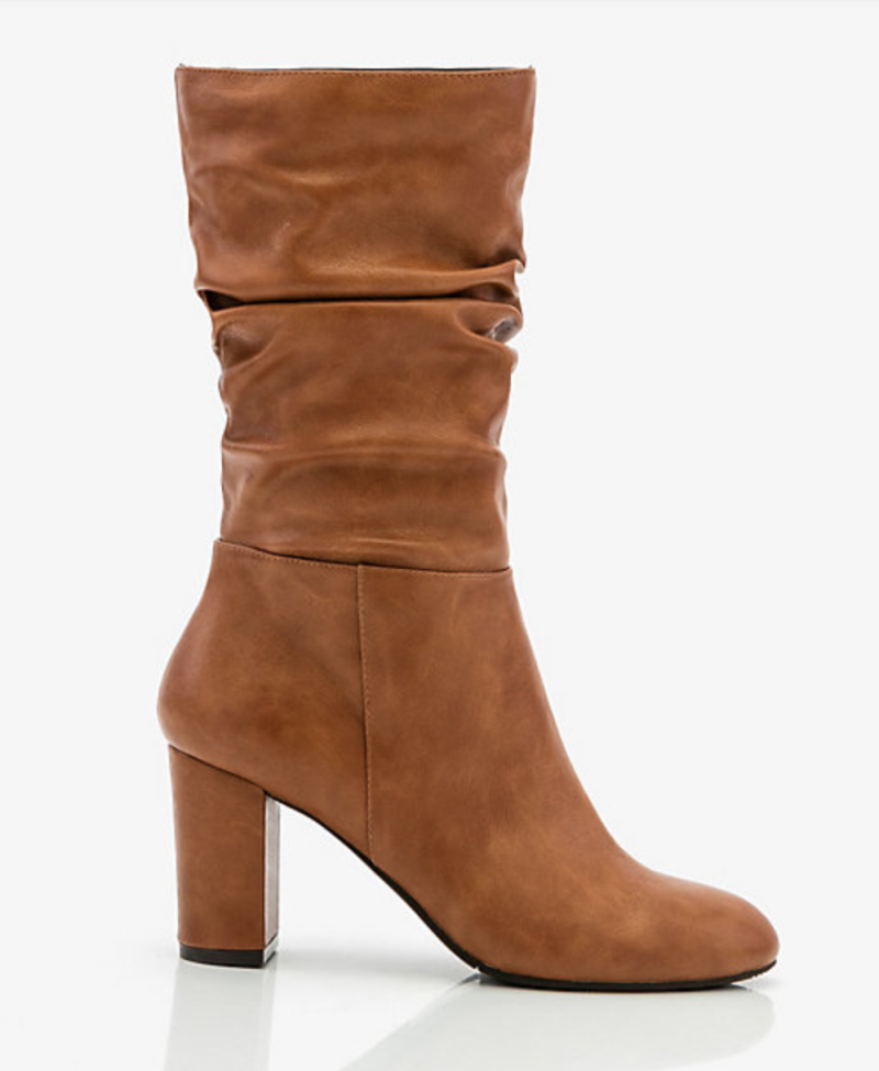 Round Toe Slouch Boot. Image via Le Château.