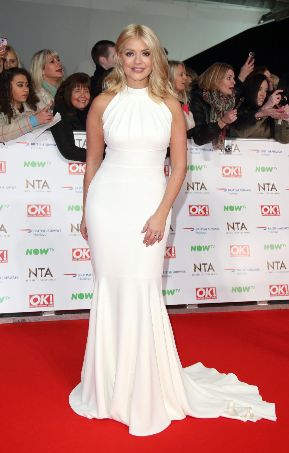 LONDON, ENGLAND - JANUARY 20: Holly Willoughby attends the 21st National Television Awards at The O2 Arena on January 20, 2016 in London, England.  (Photo by Mike Marsland/WireImage)