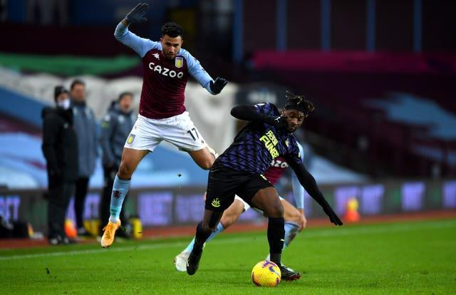 Allan Saint-Maximin, right, returned to action after an eight-week lay-off