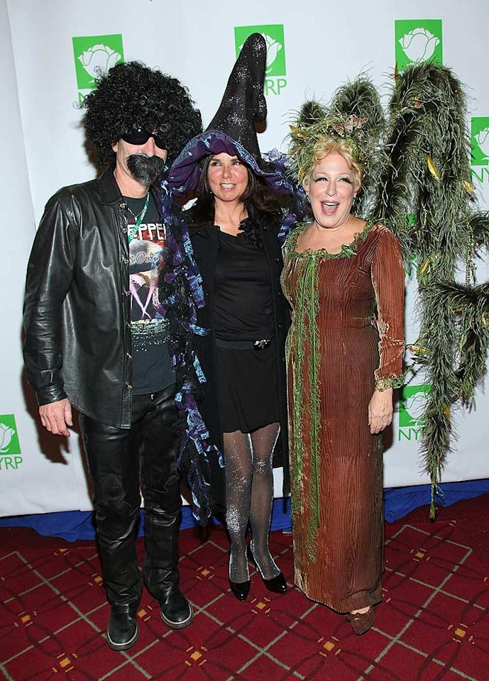 """Tennis star John McEnroe, his rocker wife Patty Smyth, and Bette Midler made for a motley crew at Midler's 15th annual fete for the New York Restoration Project at NYC's Waldorf Astoria Hotel on Friday. Mike Coppola/<a href=""""http://www.filmmagic.com/"""" target=""""new"""">FilmMagic.com</a> - October 29, 2010"""