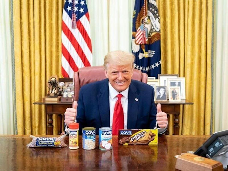 Donald Trump Poses With Goya Products One Day After Ivanka Tweets Support