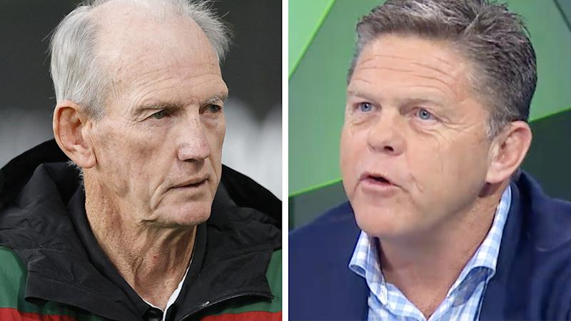 A 50-50 split image shows Wayne Bennett on the left and Paul Crawley on the right.