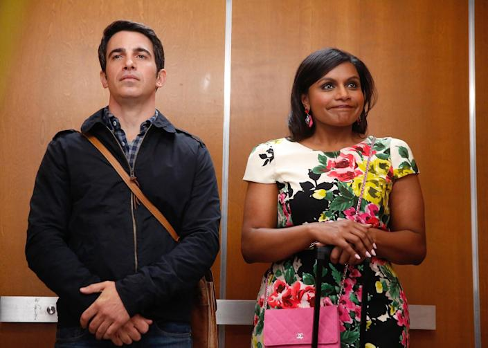 """<p>Mindy Kaling is a rom-com superfan, and her expert knowledge of the genre is on full display in <strong>The Mindy Project</strong>. As the titular Mindy, Kaling plays an ob-gyn who is unlucky in love, but that definitely doesn't stop her from trying to find her happily ever after, which might just come in the form of her prickly colleague Danny.</p> <p><a href=""""https://www.hulu.com/series/6a9ba460-9474-481a-a3d8-dbc942f12355"""" class=""""link rapid-noclick-resp"""" rel=""""nofollow noopener"""" target=""""_blank"""" data-ylk=""""slk:Watch The Mindy Project on Hulu."""">Watch <strong>The Mindy Project</strong> on Hulu.</a></p>"""