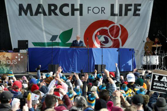 Vice President Mike Pence speaks at the annual March for Life rally in Washington, D.C. (Photo: Yuri Gripas/Reuters)