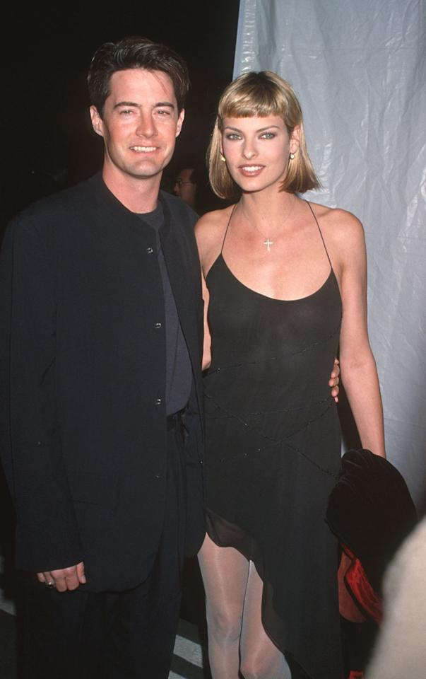 <p>MacLachlan and Evangelista met on a fashion shoot for Barney's New York in 1992, dating until 1998. </p>