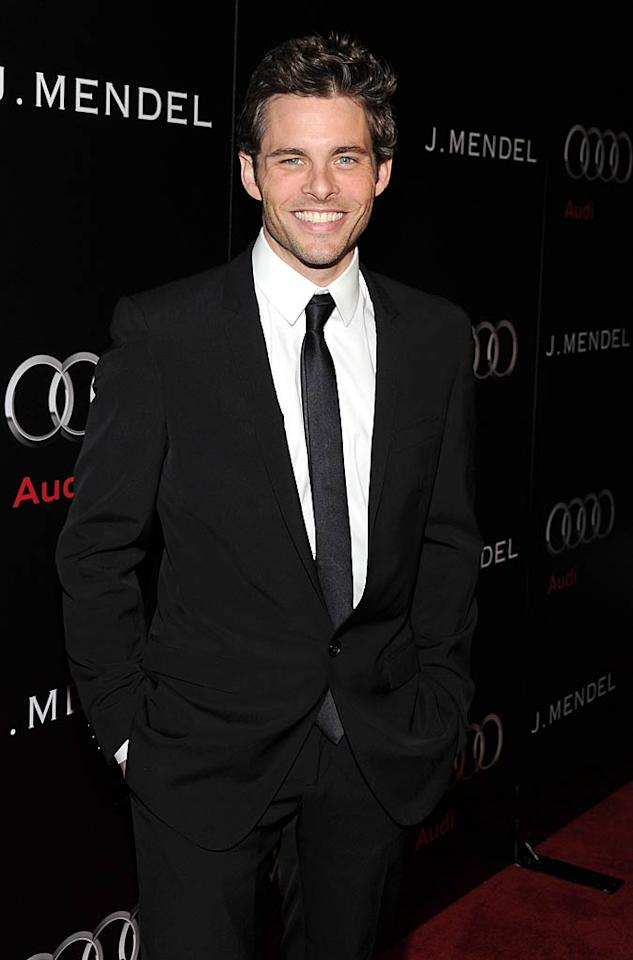 "James Marsden, who recently had a hilarious guest-starring stint as a Reiki specialist on ""Modern Family,"" was all smiles at the soiree. Michael Buckner/<a href=""http://www.wireimage.com"" target=""new"">WireImage.com</a> - January 9, 2011"