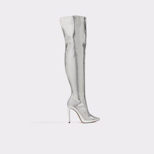 9737fa4eb0f Love the silver color but not a fan of thigh-high boots  You can also score  a shorter version