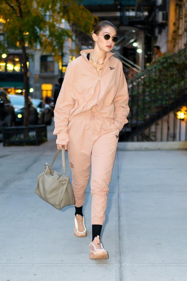 Gigi Hadid is pictured in New York City on October 25, 2019 in New York City. [Photo: Getty]