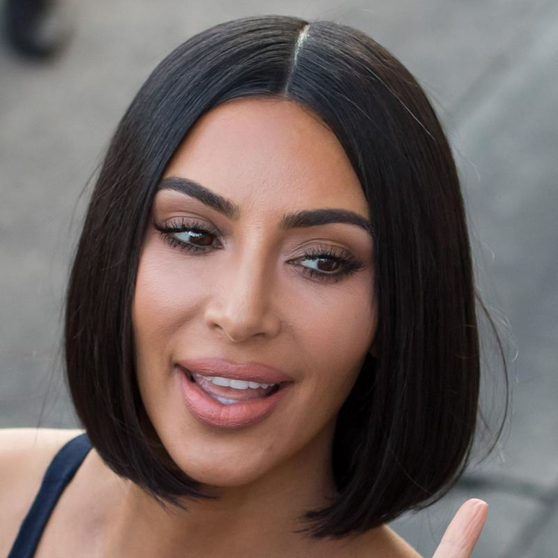 Kim Kardashian with glass hair