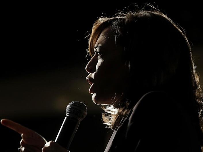Democratic senator Kamala Harris is only the second black woman to serve in the Senate, and in 2020, a prominent contender for the vice-presidential ticket: AP