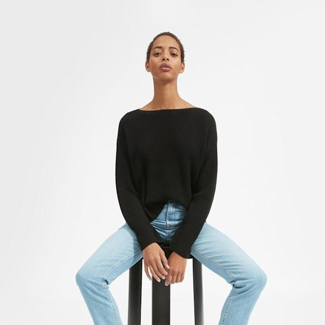 You can choose-what-you-pay on a range of items on their site - including this cashmere jumper [Image: Everlane]