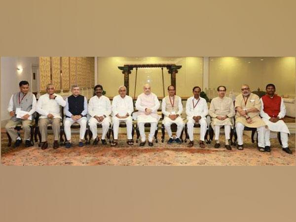 Union Home Minister Amit Shah with Chief Ministers and other senior officials.