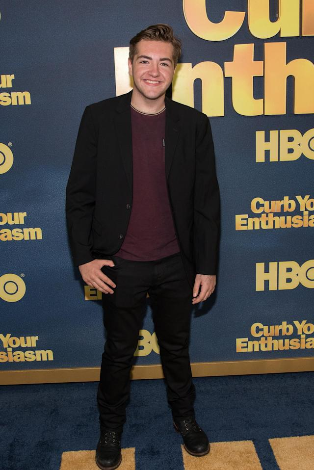 Michael Gandolfini, shown at the <em>Curb Your Enthusiasm</em> Season 9 premiere on Sept. 27, 2017, is an aspiring actor. (Photo: Mike Pont/FilmMagic)