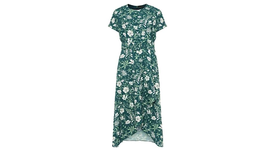 PHASE EIGHT Floral Round Neck Belted Midi Dress