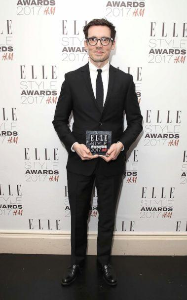 PHOTO: Erdem Moralioglu poses in the winners room with the British Designer of the Year award at the Elle Style Awards 2017, Feb. 13, 2017 in London. (Mike Marsland/Getty Images)