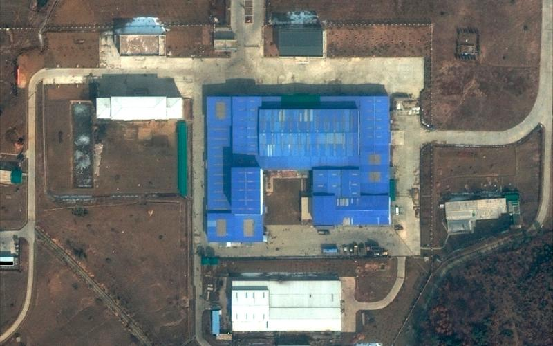 Activity has been recorded at the Sanumdong research centre is thought to be a prelude to a missile test - DigitalGlobe, a Maxar company