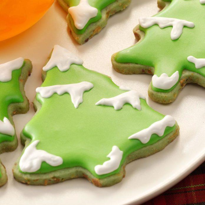 Lime Christmas Tea Cookies