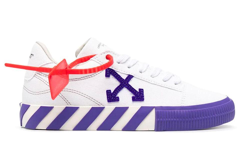 sneakers, two tone, blue, purple, off-white
