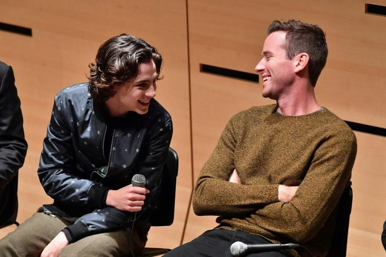 """Timothee Chalamet (L) and Armie Hammer, shown here in New York in October, both earned Spirit Award nominations for """"Call Me By Your Name,"""" which led the pack with six nominations"""