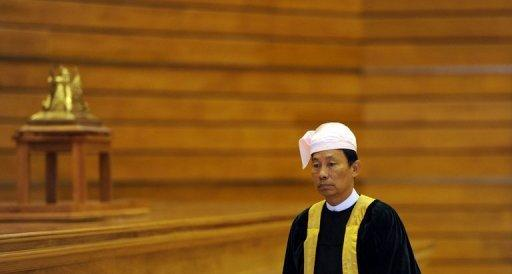 Thura Shwe Man, the speaker of the lower house of parliament arrives for a session in Naypyidaw in July 2012. The United States lifted sanctions on Myanmar President Thein Sein and Shwe Mann