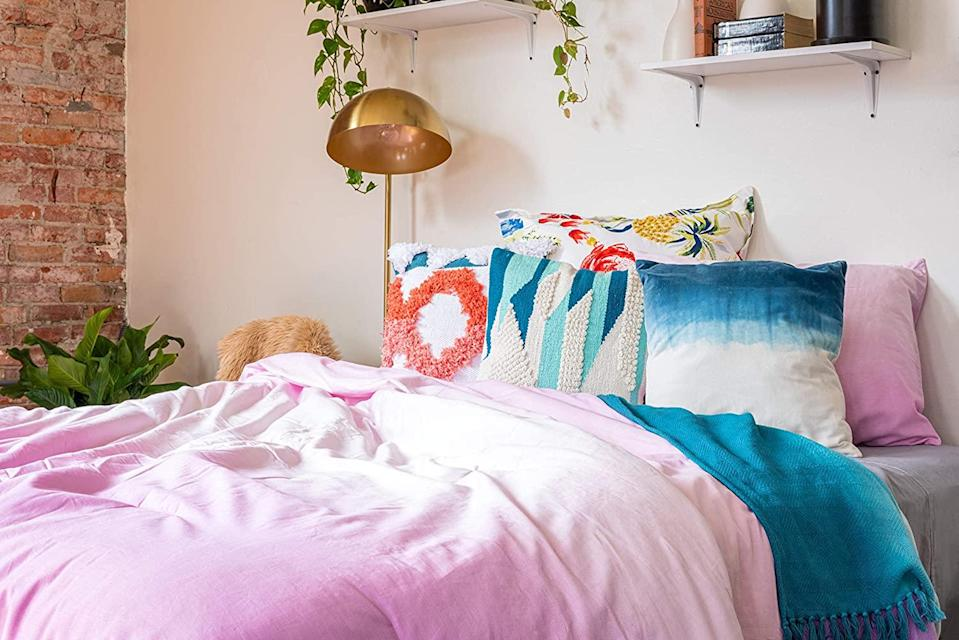 """<br> <br> <strong>Refinery29</strong> Emerie Bedding Collection Reversible Comforter, $, available at <a href=""""https://amzn.to/3egPOxT"""" rel=""""nofollow noopener"""" target=""""_blank"""" data-ylk=""""slk:Amazon"""" class=""""link rapid-noclick-resp"""">Amazon</a>"""