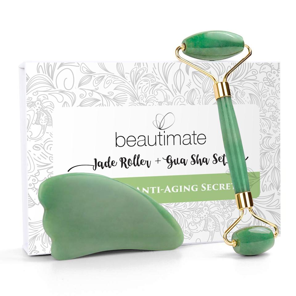 """Our beauty editor road-tested jade stones and dubbed them a good buy for beauty lovers who enjoy the """"the ritualistic aspect of sticking to a beauty routine."""" Get this set on sale for $16 at Walmart right now."""