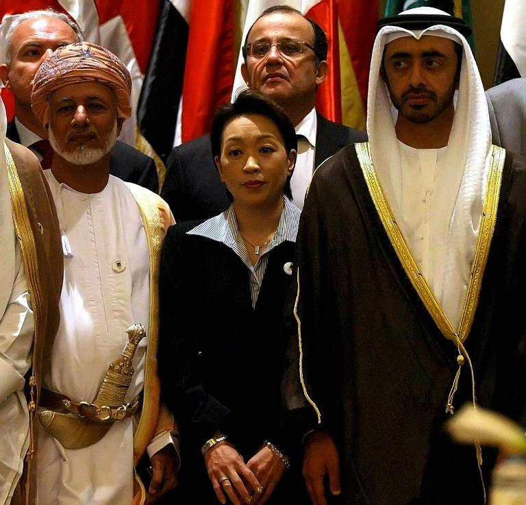 Hashimoto pictured at a conference in Abu Dhabi in 2008, when she was Japan's deputy foreign minister