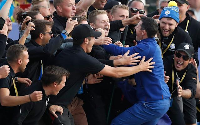 Rory McIlroy after winning the 2018 Ryder Cup - CARL RECINE/Reuters