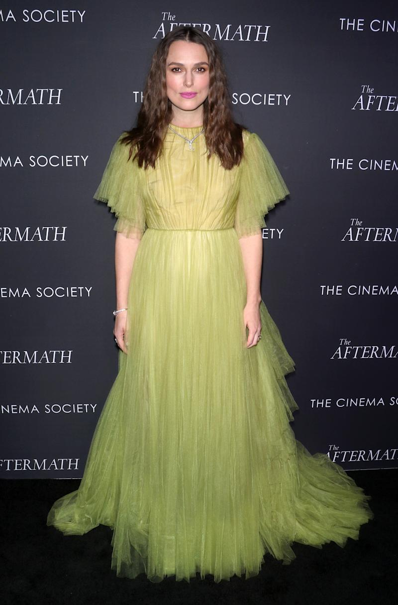 "Keira Knightley attends ""The Aftermath"" New York screening at the Whitby Hotel on March 13, 2019 in New York City."