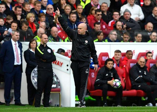 Agnew takes charge tomorrow for his first real game as Boro boss (credit: Getty)