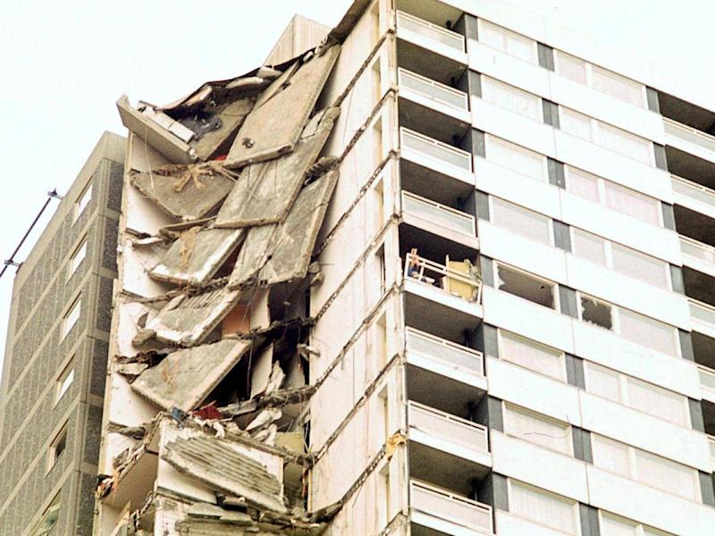 Gas explosion led to collapse at Ronan Point LPS tower block in 1968 (David Graves / Rex)